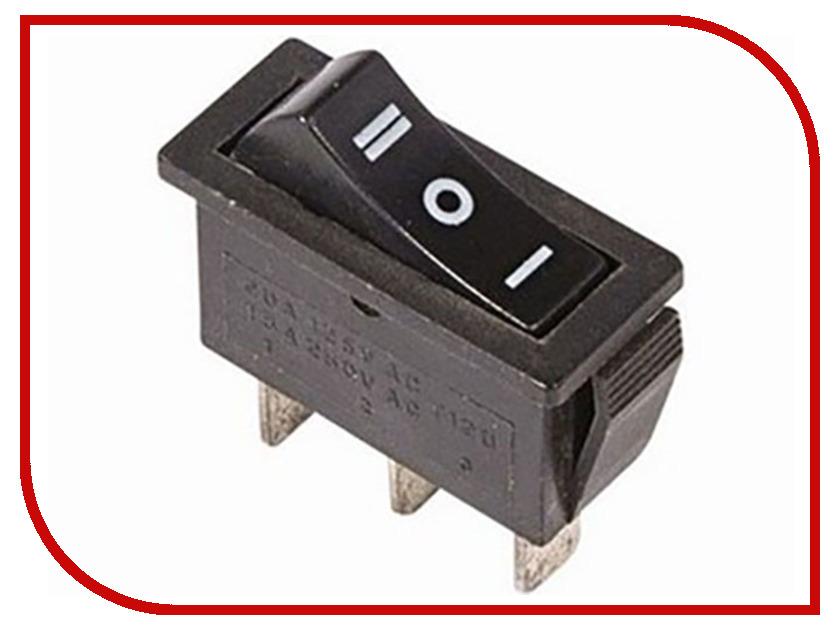Выключатель Rexant 250V 10A (3c) Black 06-0302-A rocker switch 3 pin on off red black 6a ac 250v 10a ac 125v