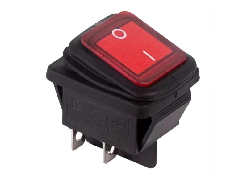 Выключатель Rexant 250V 15A (4c) Red 06-0307-C