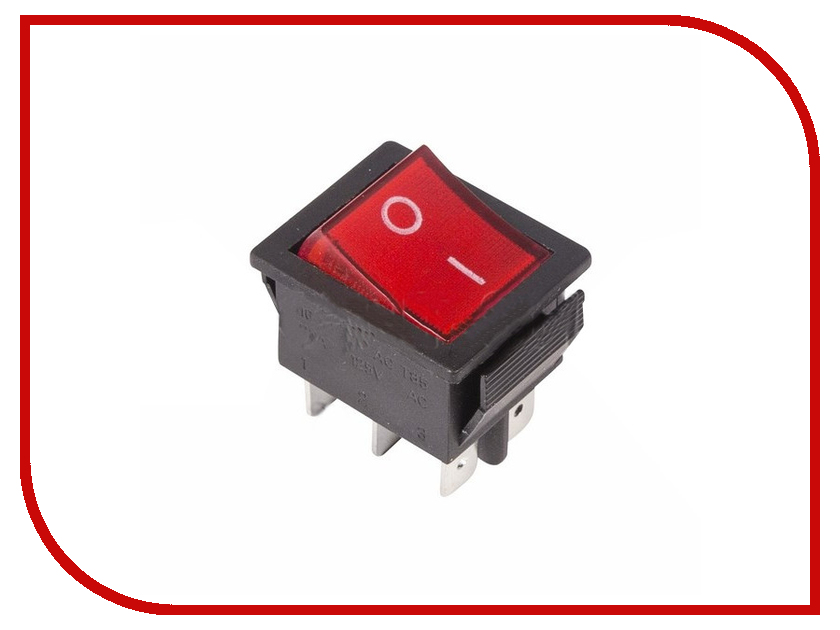 Выключатель Rexant 250V 15A (6c) Red 06-0309-B zndiy bry hfs 20 spdt ac 250v 15a water flow control switch red