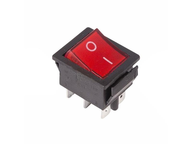 Выключатель Rexant 250V 15A (6c) Red 06-0309-B