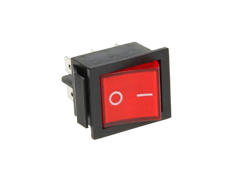 Выключатель Rexant 250V 15A (6c) Red 06-0305-B