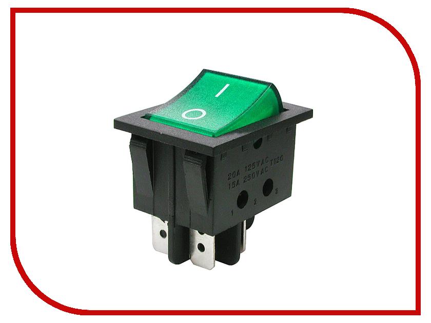 Выключатель Rexant 250V 16A (4c) Green 06-0304-B 2 pcs ac 250v 16a rotating pins power adapter connector us au plug