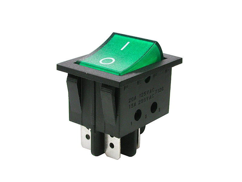 Выключатель Rexant 250V 16A (4c) Green 06-0304-B