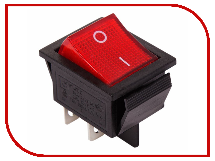 Выключатель Rexant 250V 16A (4c) Red 06-0303-B zndiy bry hfs 20 spdt ac 250v 15a water flow control switch red