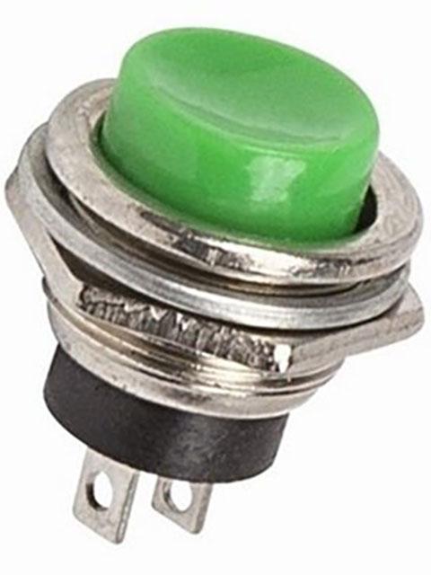Выключатель Rexant 220V 2A (2c) Green 06-0319-A