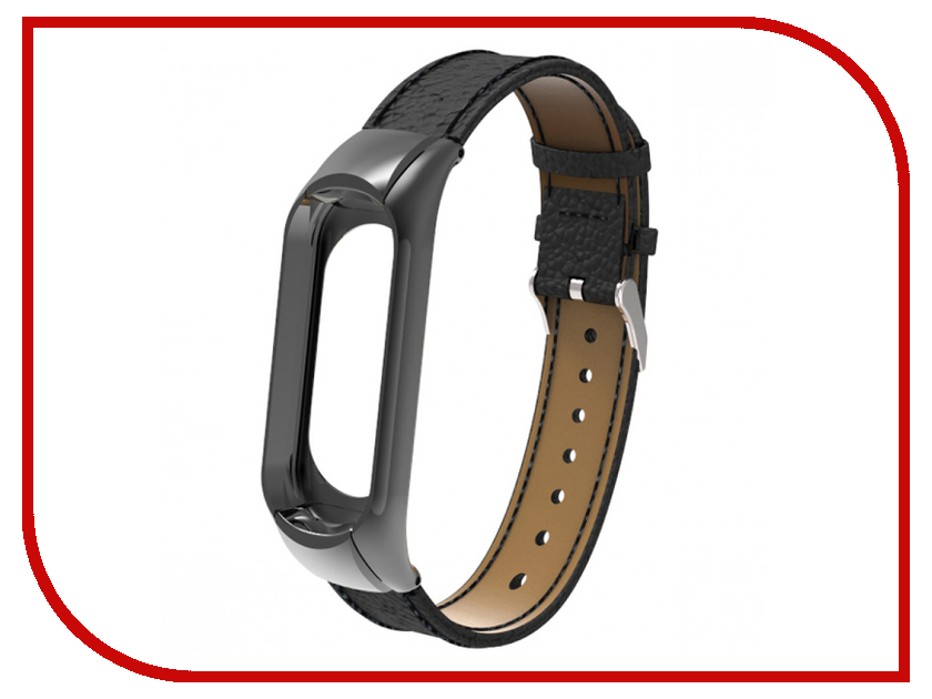 Aксессуар Ремешок Apres для Xiaomi Mi Band 3 Leather Strap Black aксессуар ремешок apres mijobs leather strap for xiaomi mi band 2 red