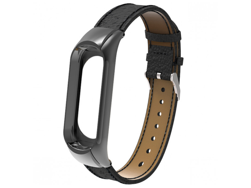 Aксессуар Ремешок Apres для Xiaomi Mi Band 3 Leather Strap Black