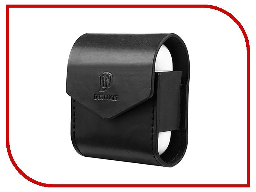 Аксессуар Чехол Dux Ducis Leather для APPLE Airpods Premium Black 906252 цена 2017