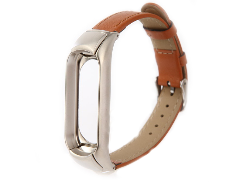 Aксессуар Ремешок Apres для Xiaomi Mi Band 3 Leather Strap Brown