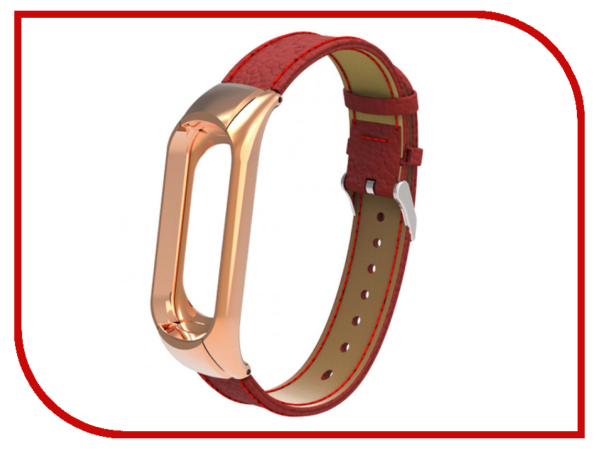 Aксессуар Ремешок Apres для Xiaomi Mi Band 3 Leather Strap Red aксессуар ремешок apres mijobs leather strap for xiaomi mi band 2 red