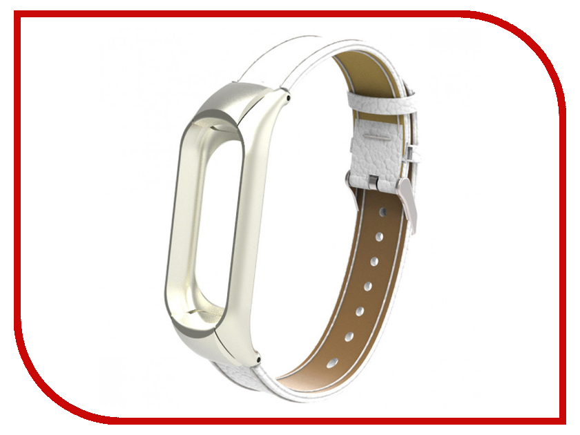 Aксессуар Ремешок Apres для Xiaomi Mi Band 3 Leather Strap White блуза evans evans ev006ewarxr4
