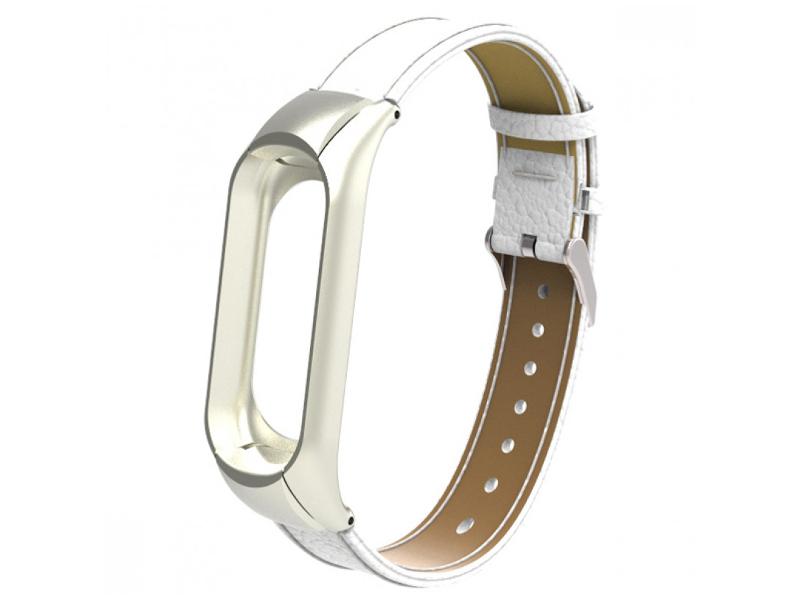 Aксессуар Ремешок Apres для Xiaomi Mi Band 3 Leather Strap White