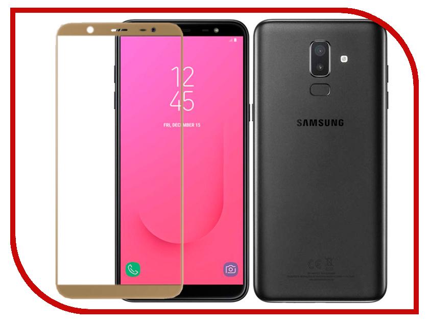 Аксессуар Защитное стекло для Samsung Galaxy J8 Pero 2.5D Gold PRMG-GJ8G аксессуар защитное стекло для samsung galaxy j5 2016 pero 2 5d white prmg gj516w