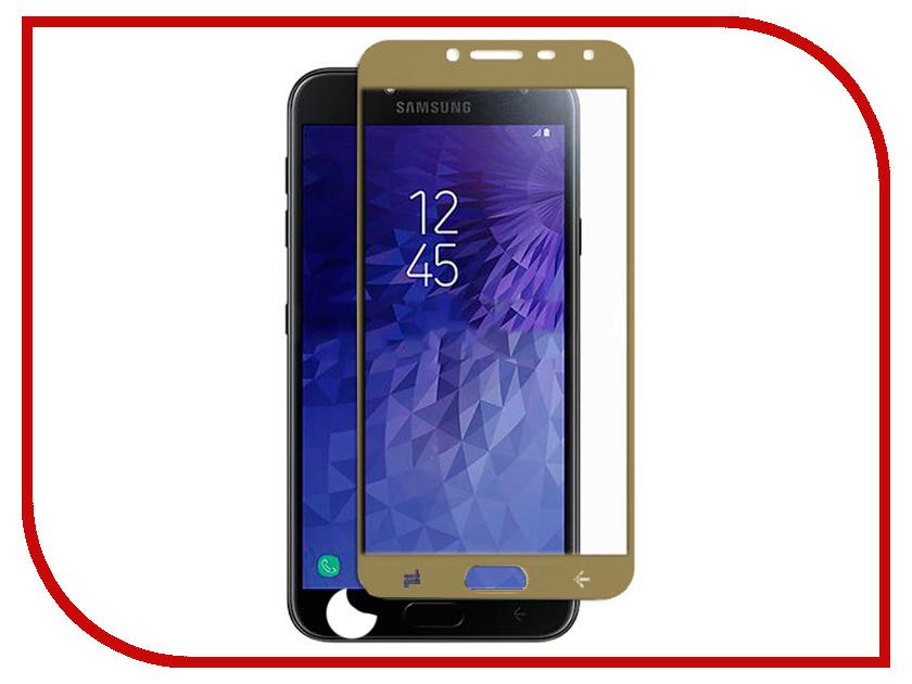 Аксессуар Защитное стекло для Samsung Galaxy J4 Pero 2.5D Gold PRMG-GJ4G аксессуар защитное стекло для samsung galaxy j5 2016 pero 2 5d white prmg gj516w