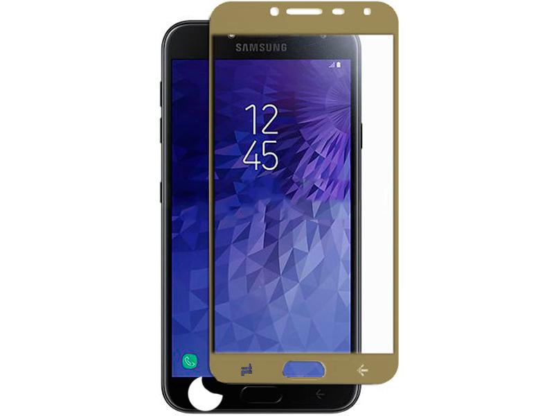 Аксессуар Защитное стекло Pero для Samsung Galaxy J4 Pero 2.5D Gold PRMG-GJ4G защитное стекло pero для samsung a8 a530