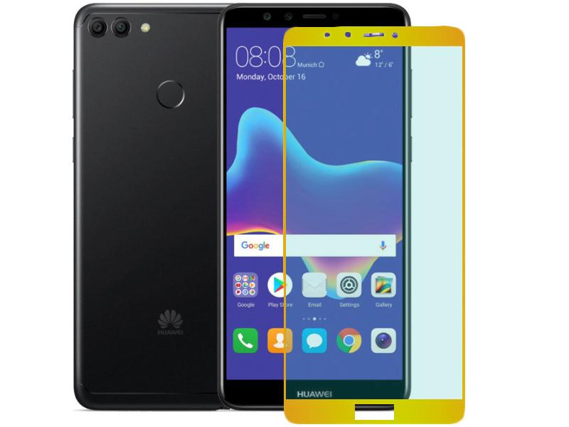Аксессуар Защитное стекло Pero для Huawei Y9 2018 2.5D Gold PRMG-HY918G