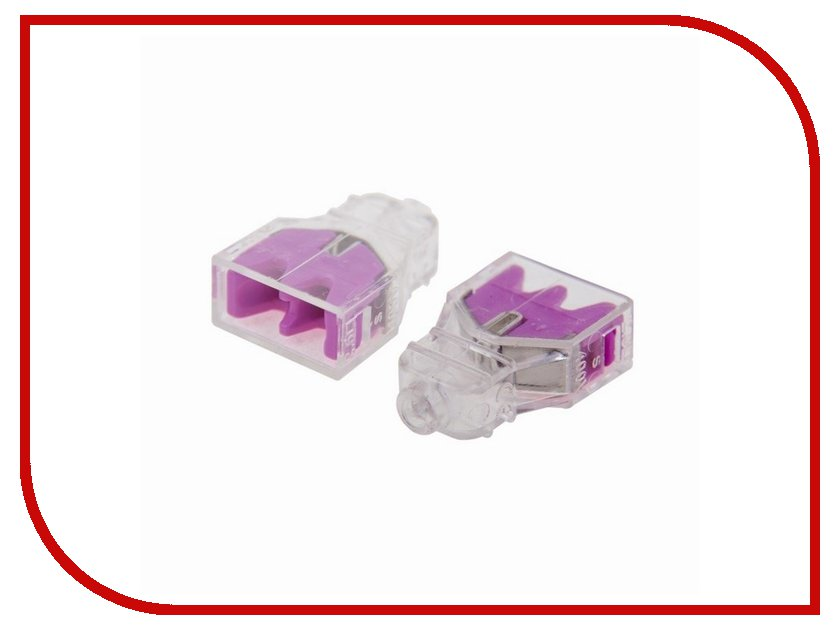 Клемма соединительная Rexant 2-x проводная 10шт 06-0210-B10 аксессуар rexant 1 x 2 50mm2 100m green 01 6543