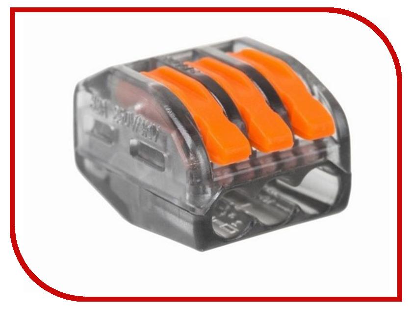Клемма соединительная Rexant 3-х проводная многоразовая 10шт Transparent 06-0204-B10
