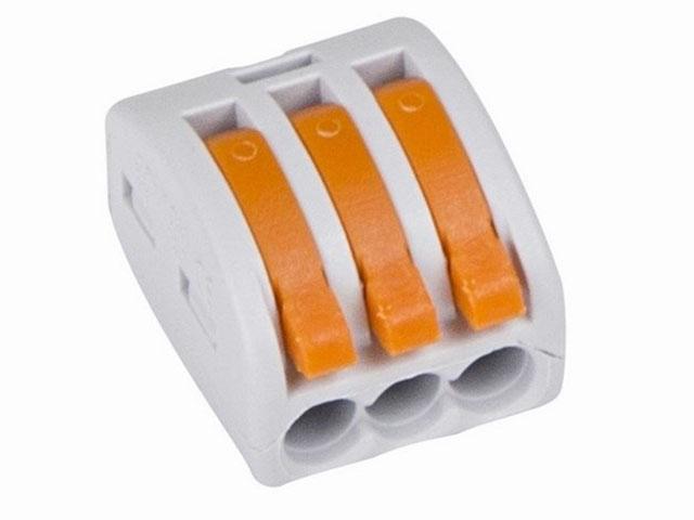 цена на Клемма соединительная Rexant 3-х проводная многоразовая 5шт Grey 06-0201-B5
