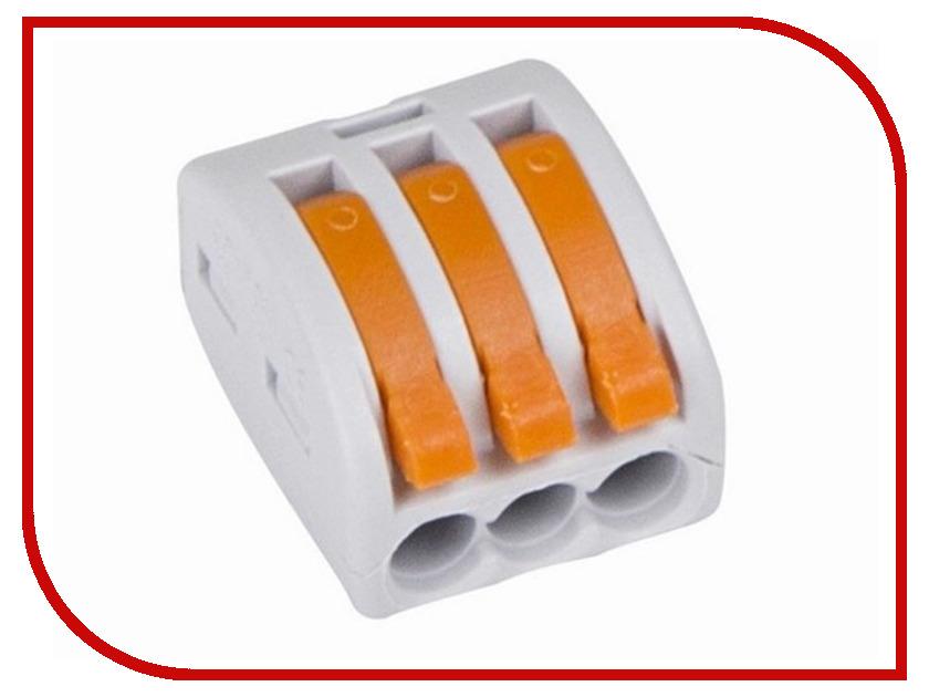 Клемма соединительная Rexant 3-х проводная многоразовая 10шт Grey 06-0201-B10