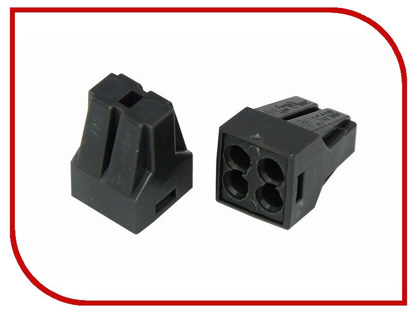 Клемма соединительная Rexant 4-х проводная с пастой 10шт 06-0207-B10