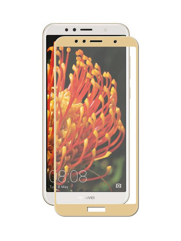 Аксессуар Защитное стекло Pero для Huawei Y6 2018 2.5D Gold PRMG-HY618G