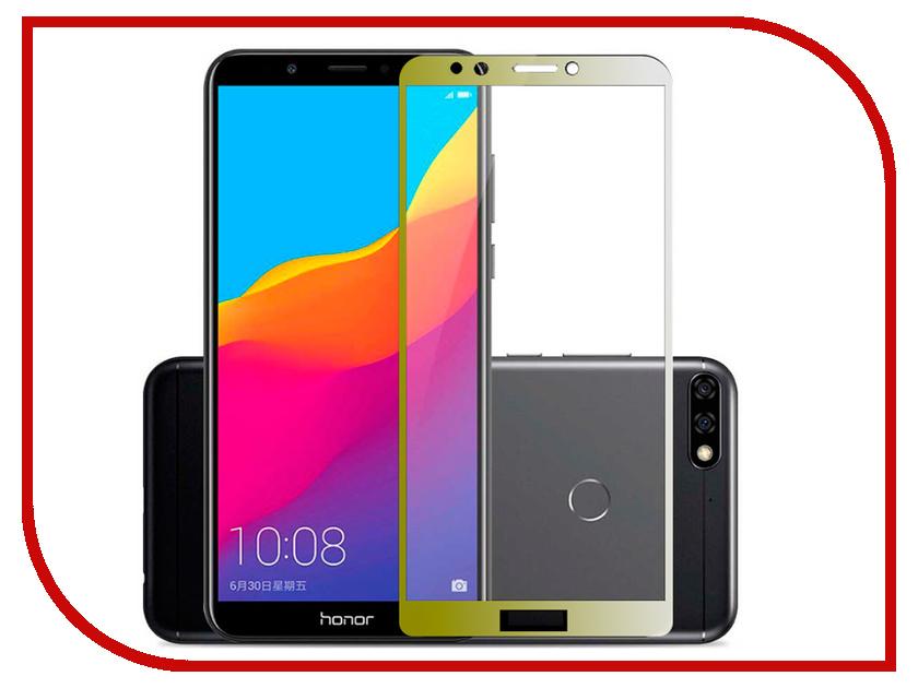 Аксессуар Защитное стекло для Huawei Honor 7C Pero 2.5D Gold PRMG-H7CG huawei honor 5x gold