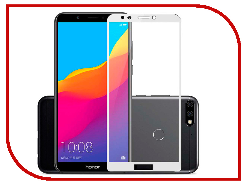 Аксессуар Защитное стекло для Huawei Honor 7C Pero 2.5D White PRMG-H7CW колонка ginzzu gm 892b