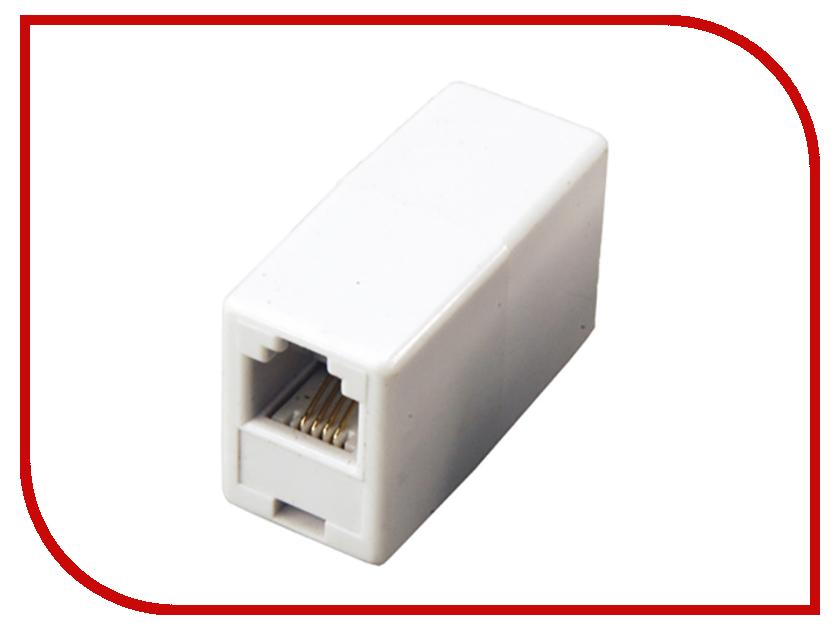 Переходник телефонный Rexant RJ-11 6P4C - 6P4C 06-0107-A аксессуар rexant rj 11 6p4c 7m white 18 3071