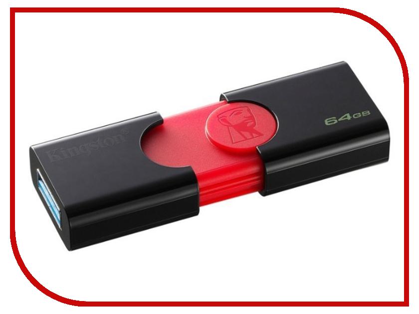 USB Flash Drive Kingston DataTraveler 106 64GB genuine kingston datatraveler 100 g3 usb 3 0 flash drive black 64gb