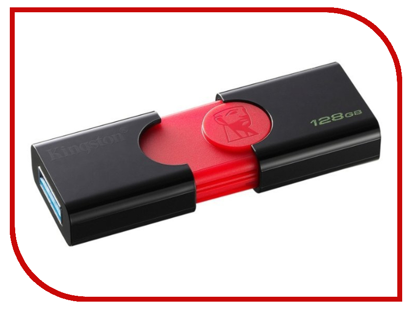 USB Flash Drive Kingston DataTraveler 106 128GB usb flash drive 8gb kingston datatraveler locker g3 dtlpg3 8gb