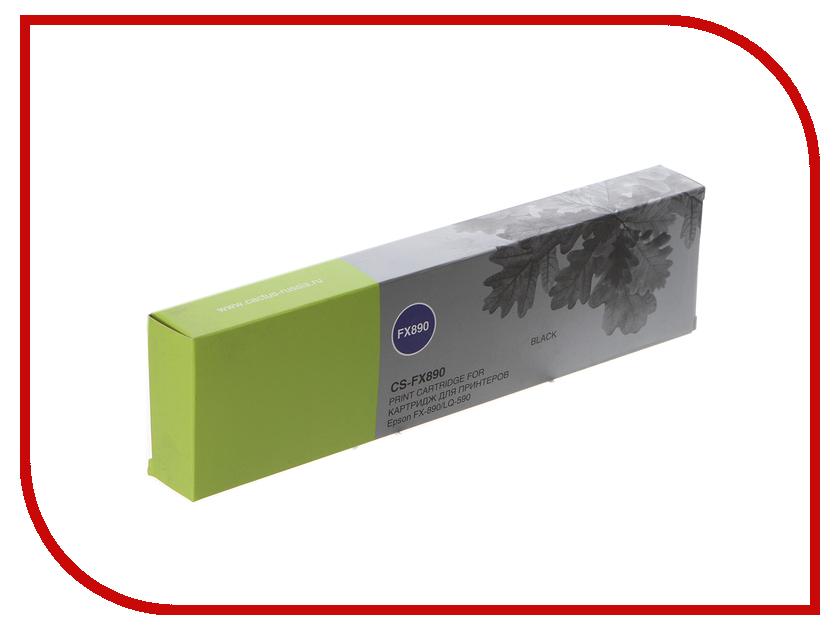 Картридж Cactus CS-FX890 Black для Epson FX-890/LQ-590 худи print bar cs go asiimov black
