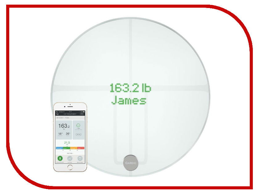 Весы напольные Qardio QardioBase 2 White B200-IAW