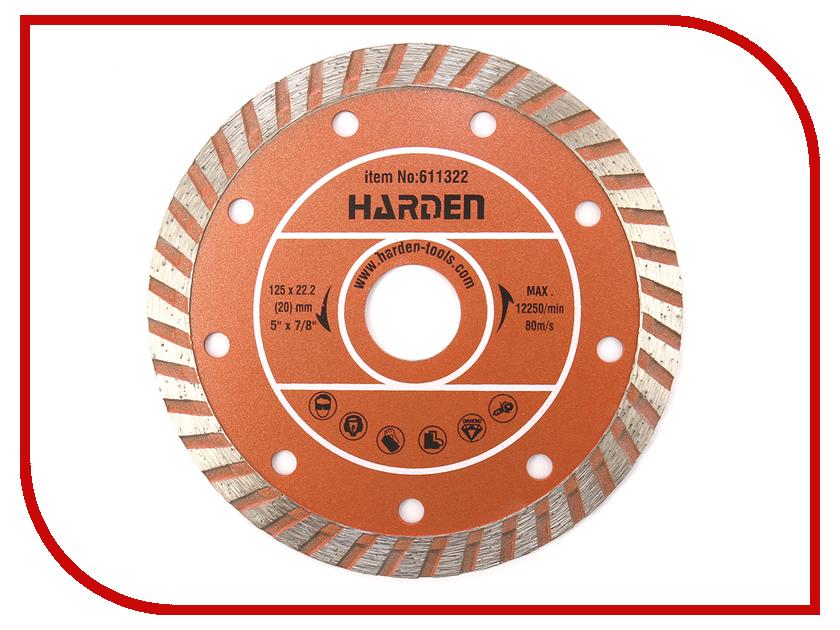 Диск Harden 611322 алмазный отрезной 125 х 22.2mm сухая резка диск алмазный отрезной сегментный 180х22 2мм сухая резка вихрь