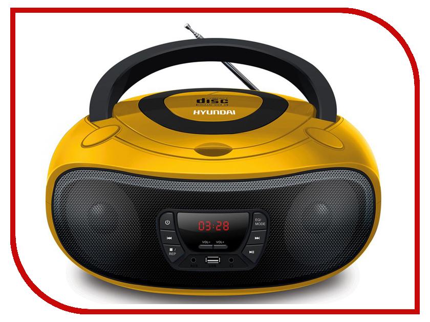 Магнитола Hyundai H-PCD300 Yellow/Black цена