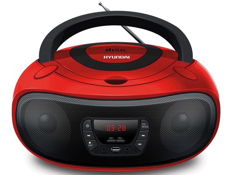 Магнитола Hyundai H-PCD280 Red-Black