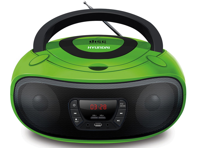 Магнитола Hyundai H-PCD260 Green-Black hyundai h pcd160 black blue магнитола