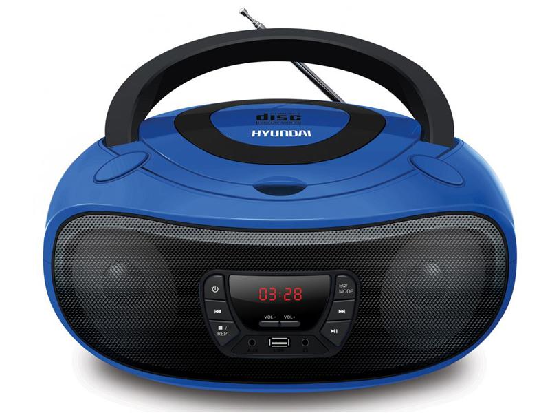 Магнитола Hyundai H-PCD240 Blue-Black hyundai h pcd160 black blue магнитола