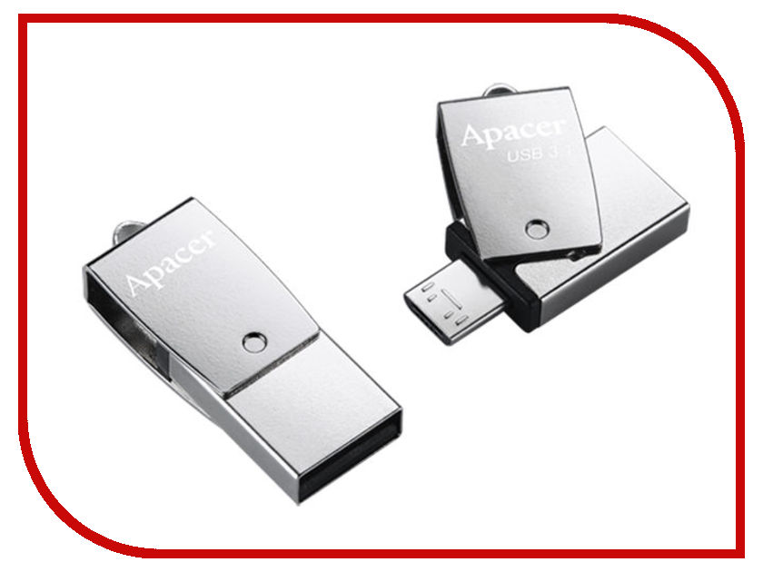 USB Flash Drive Apacer AH750 16GB Silver AP16GAH750S-1