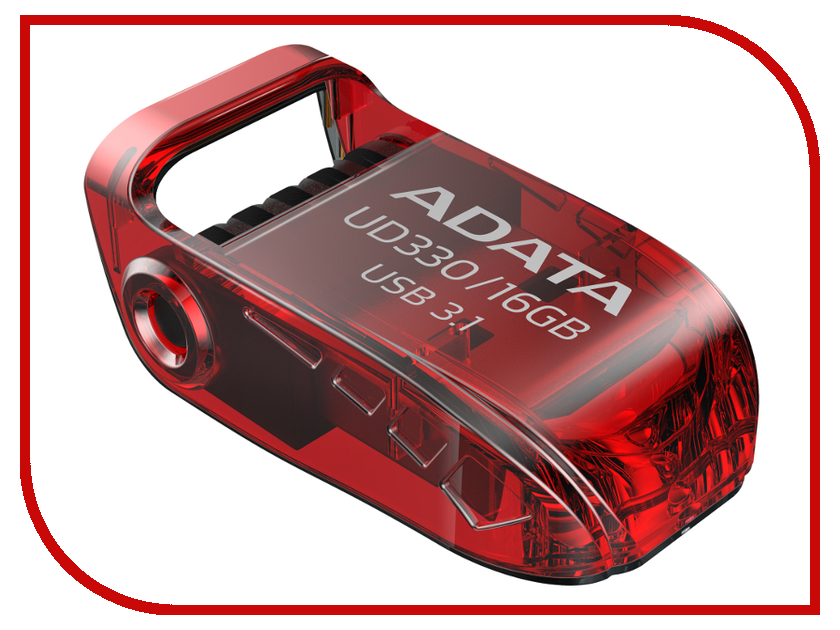 USB Flash Drive 16Gb - A-Data UD330 USB 3.1 Red AUD330-16G-RRD