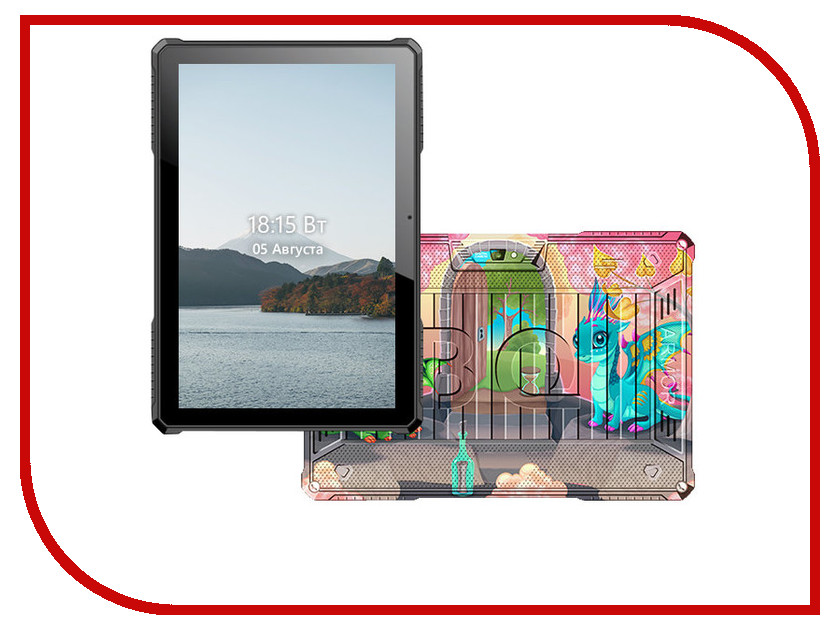 Планшет BQ 1077L Armor Pro LTE Print 12 (Spreadtrum SC9832G 1.3 GHz/1024Mb/8Gb/GPS/LTE/Wi-Fi/Bluetooth/Cam/10.1/1280x800/Android) планшет ginzzu gt 7105 silver spreadtrum sc7731 1 3 ghz 1024mb 8gb gps 3g wi fi bluetooth cam 7 0 1280x800 android