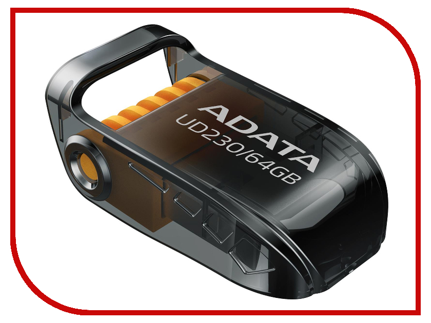 USB Flash Drive 64Gb - A-Data UD230 Black AUD230-64G-RBK цена и фото