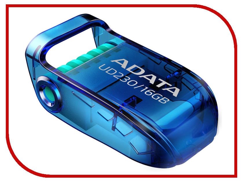 USB Flash Drive 16Gb - A-Data UD230 Blue AUD230-16G-RBL флеш накопитель 16gb a data ud230 usb 2 0 черный
