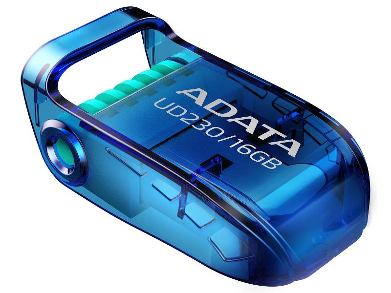 USB Flash Drive 16Gb - A-Data UD230 Blue AUD230-16G-RBL usb flash drive 16gb a data uv140 usb 3 0 black blue auv140 16g rbe
