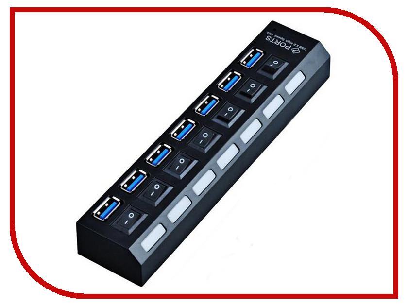 Хаб USB Orient BC-317 7xUSB 3.0 Black 30654