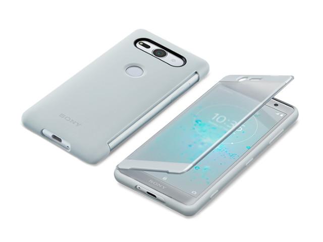 Аксессуар Чехол Sony Xperia XZ2 Compact с окошком SCTH50 Silver