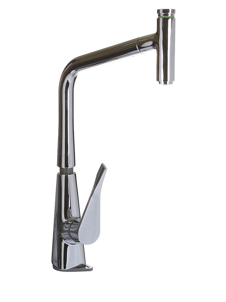 Смеситель Hansgrohe Metris Select Chrome 14884000 смеситель для кухни мойки hansgrohe metris select 14884000 однорычажный хром