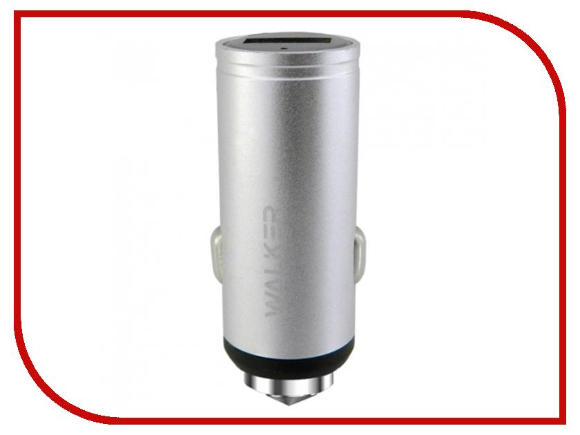 Зарядное устройство Walker WCR-23 1xUSB 2.4 А Silver buffalo wcr hp gn