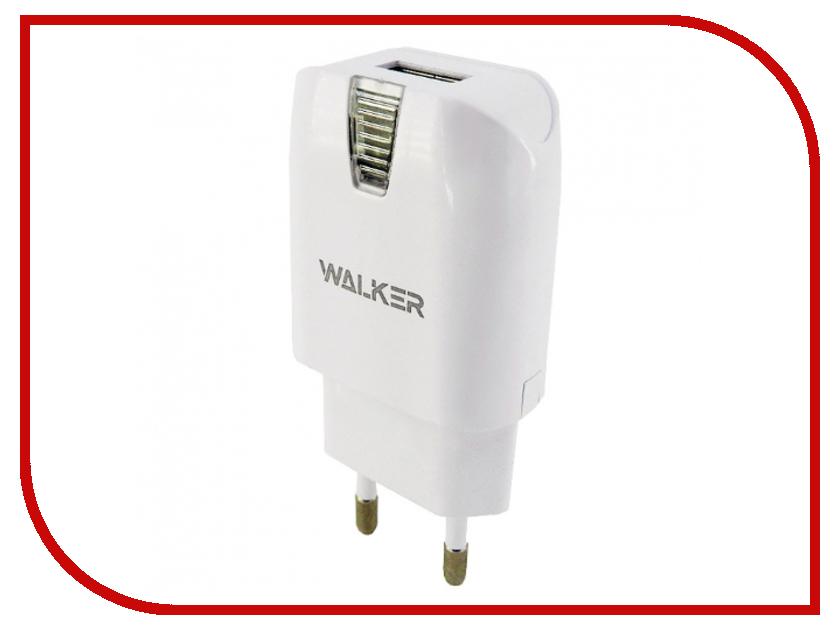 Зарядное устройство Walker WH-11 1A White майка print bar white walker ale