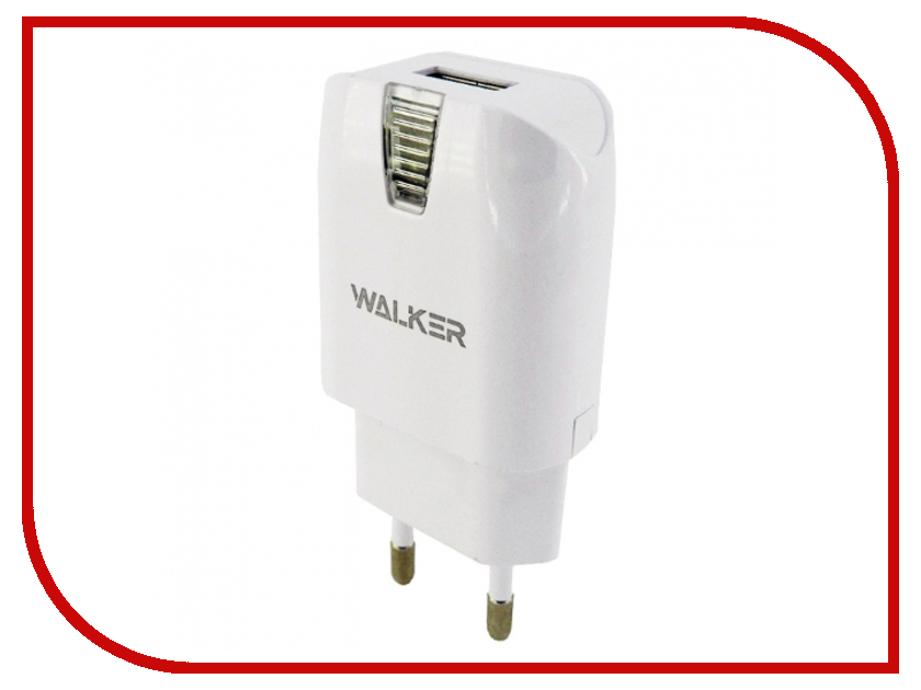 Зарядное устройство Walker WH-21 2A White майка print bar white walker ale